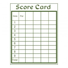MG-009 Score Cards
