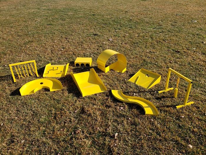 Metal Obstacle Set
